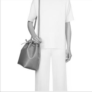 Mansur Gavriel Black Bucket Bag w/Pouch